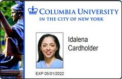 Sample Columbia ID card
