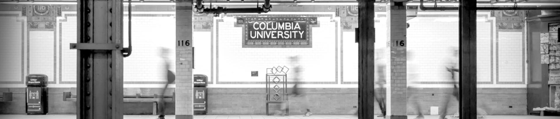 subway station at Columbia University
