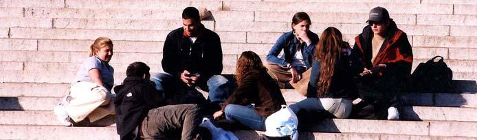 students on the steps of Low Library